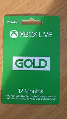 Microsoft Xbox live 12 month gold membership READ AD