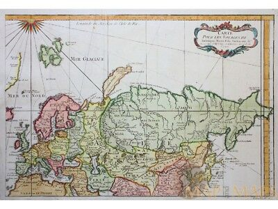 Voyages de Rubruquis & Marco Polo old map Bellin 1749