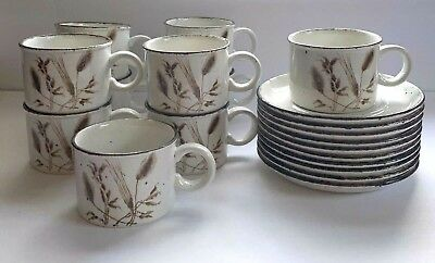 Ten Stonehenge Midwinter England Wild Oats Flat Coffee Cup and Saucer Sets