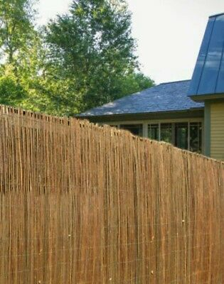 4m Natural Peeled Reed Screening Roll Garden Screen Fence Fencing Panel 1x 4m/1.