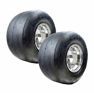 "Matching Pair Of Jr Dragster Rear Racing Tires Slicks 18"" X 8""-8"" Pit Bull"