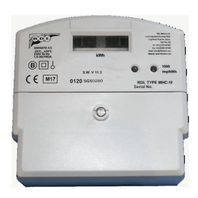 Landlords SINGLE PHASE ELECTRONIC ELECTRIC METER 100AMP RDL MHC-1F HEAVY DUTY