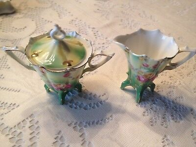 RS Prussia Footed Creamer and Sugar