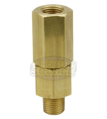 "1/8"" Male x Female Solid Brass In Line Check Valve Air Compressor 500 PSI New"
