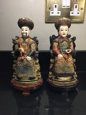 Oriental Figures Pair - Large Statues - Chinese History