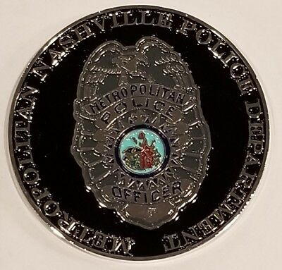 "Metropolitan Nashville TN Police Department C-Flex MIDTOWN 1.75"" Coin"