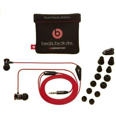 Original Beats by Dre iBeats In-Ear Headphones Earphones BLACK Silver NEW
