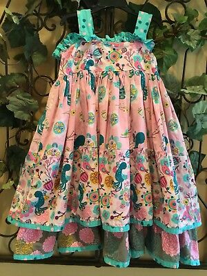 f219b021af3ce Jelly The Pug ~ Beautiful!! Allergia Sassy Dress ~ Girl's Size 8 - Eeuc