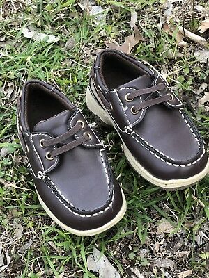 05e942bb292a1 OKIE DOKIE INFANT TODDLER Boys Boat Shoes Size 7M -  6.50