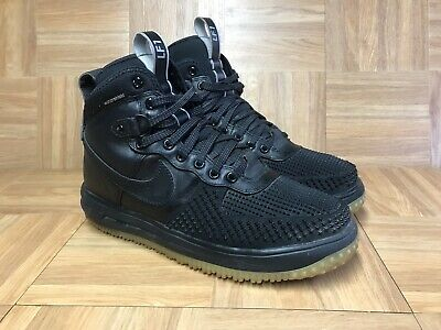 sneakers for cheap b28db 76cee RARE🔥 Nike Lunar Force 1 Duckboot Black Anthracite Gum Leather S 9.5  805899-003
