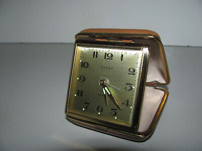 """Quality Japanese Namco Travel Windup Alarm Clock Looking As New And In """"GWO"""""""