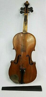 "Antique Root Solo Violin 4/4 14"" Body Saxon Violin  For Restoration"