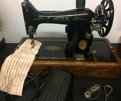 Vintage Singer Electric 99K Sewing Machine c1927 great working condition