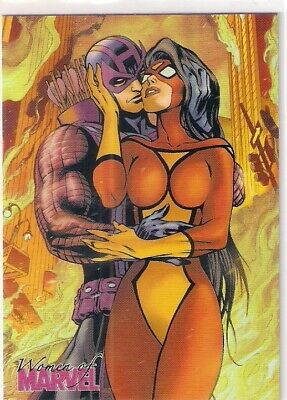 2013 WOMEN OF MARVEL 2 TWO EMBRACE #E36 X-23 AND HELLION