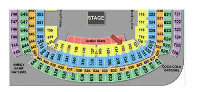 2 KINGS OF LEON Tickets + GREEN PARKING, Section 123, Row L at Rodeo Houston