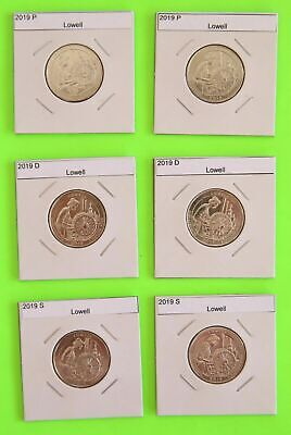 2019 PDS America the Beautiful - Lowell, MA 6 Coin Set - FREE SHIPPING!