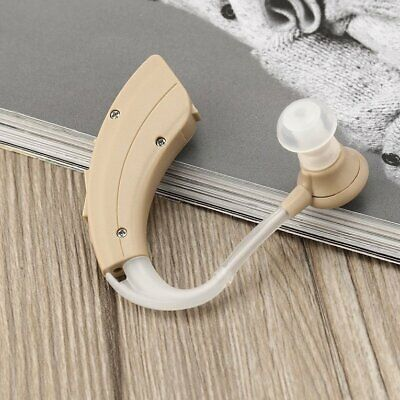 JECPP Mini Ear Hearing Aid Behind Ear Sound Amplifier Sound Enhancer KXW-211 ♣♬