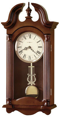 Howard Miller 625-253 Everett - Traditional Cherry Chiming Wall Clock 625253