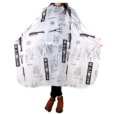 Adult Salon Barber Gown Cape Hairdressing Hairdresser Hair Cutting Cloth Blac H7