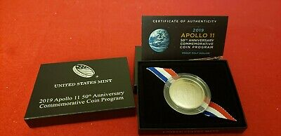 2019 - S Apollo 11 50th Anniversary Proof Clad Half Dollar (19CE)