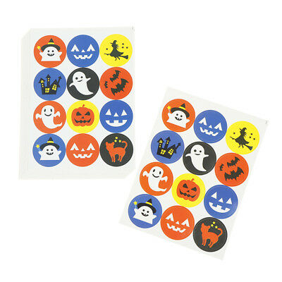 120pcs Halloween Series Seal Stickers DIY Gifts Labels Halloween Party Decor X