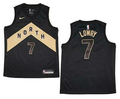 b37ede4f428 Youth Nike Kyle Lowry Toronto Raptors NBA Black Swingman Jersey - City  Edition