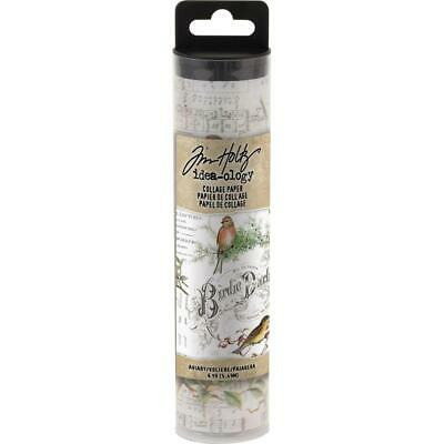 Tim Holtz IDEA-OLOGY 'COLLAGE PAPER - AVIARY' 5.49m / 6 yards Birds/Floral