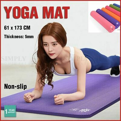 Yoga Mat Pad Non-slip Fitness Gym Exercise Pilates Thick Folding Lose Weight Eco