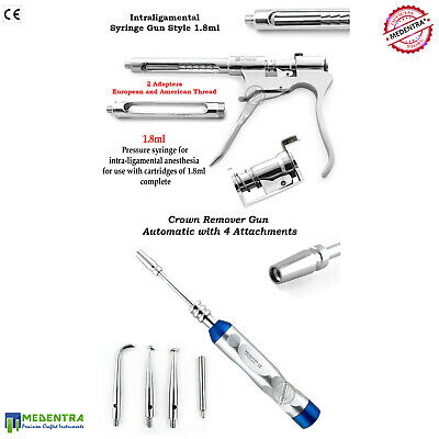 Surgical Intraligamental Anesthesia Aspirating Syringe 1.8ml Dental Lab Dentists
