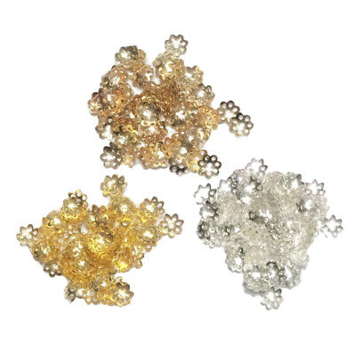 900x Metal Flower Bead Caps End for Jewelry Making DIY Necklace Bracelet 8mm
