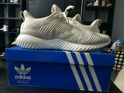 1be84f313 ADIDAS ALPHABOUNCE BOUNCE 1 Mystery Ink Core black Blue Orange Grey ...