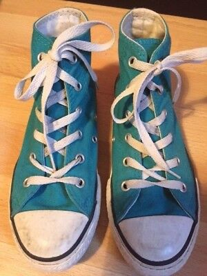 50c6ade64aa4f CONVERSE - BASKETS montantes toile bleu turquoise - 33 - TBE ...