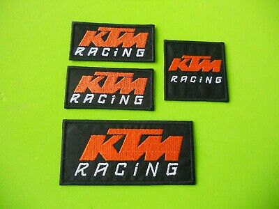 Patch Ktm Racing Pz 4 Ricamate Arancio Su Base Nero Termoadesive  -Replica