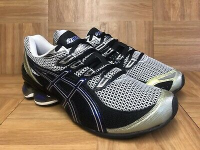 cb90ee085b1 RARE🔥 Asics Gel Frantic 5 Navy Silver Black Running Shoes Men's Sz 11 T0D4N