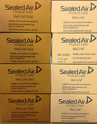 Mail Lite / Lites Padded Bags 1000 Envelopes A000 + Free  24H Courier -  Gold