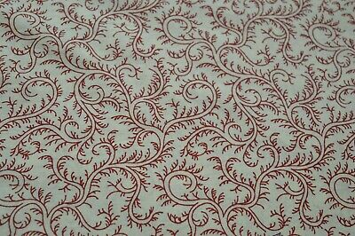 1 Yard Floral Hand Block Print Beautiful Indian Pure Cotton Fabric By Craft