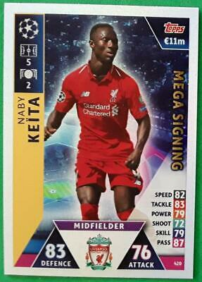 Topps Match Attax Champions League 2018-2019 Card Nr.420 Naby Keita