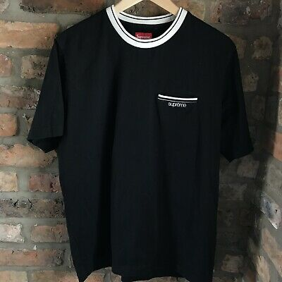 1a9245642b0 Supreme Ss18 Ribbed Pocket Tee Medium Worn Twice With Bag And Sticker