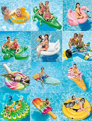 Intex Kids Adult Inflatable Ride On Loungers Beach Pool Mat Lilo Float Swim Ring