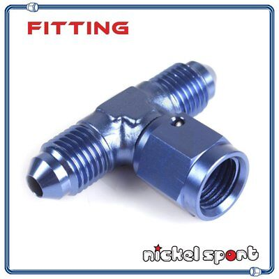 AN6 6AN Tee-Female Swivel On Side Aluminum Fitting Adapter