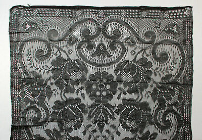 Velo da messa in pizzo nero con rose vintage black lace Mass veil cm 56 x 209