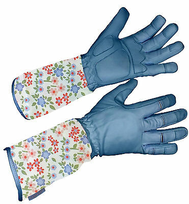 Laura Ashley Caravan Daisy Gauntlet Gardening Gloves. Size L -  SLIGHT SECONDS
