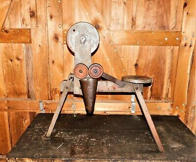 Antique Spinning Flax Wheel, Yarn Wool Winder, Mystery Don't Know What It Is