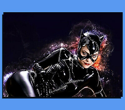 Box Canvas: Michelle Pfeiffer - Catwoman - Grunge Art - Various Sizes