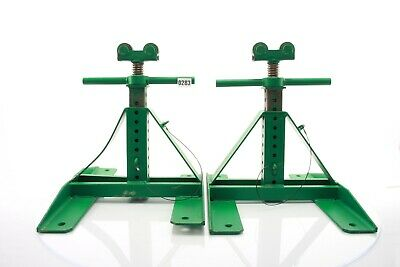 """Greenlee 687 Screw-Type Reel Stands 13"""" - 28"""" (2 Stands) and 647 Spindle #283"""