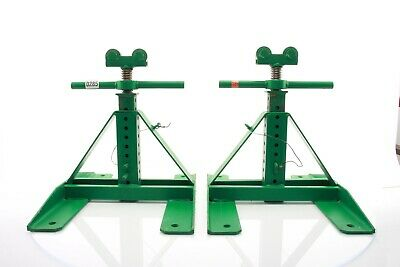 """GREENLEE 687 SCREW-TYPE REEL STAND 13"""" - 28"""" (2) Stands & (1) Spindle 647 - 285"""