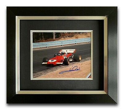 Mario Andretti Hand Signed Framed Photo Display - Ferrari - Formula 1 A.