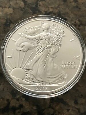 Lot of 5 - 2018 One Troy Oz .999 Fine Silver American Eagle Coins BU
