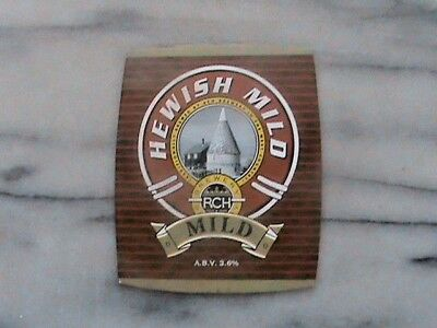 RCH Hewish Mild real ale beer pump clip sign