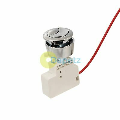 Adjustable Toilet Flush Push-Button Valve Dual Function Durable ABS Body